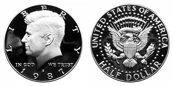 1987 S Kennedy Half Dollar Proof