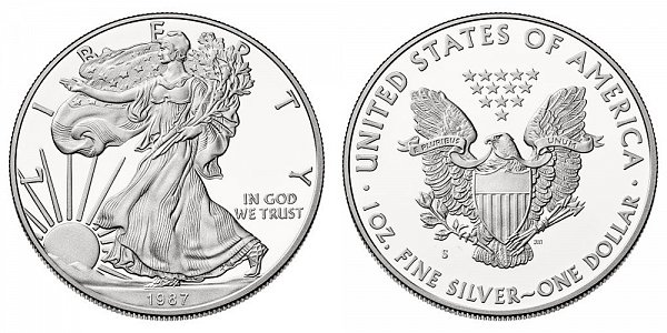 1987 S Proof American Silver Eagle