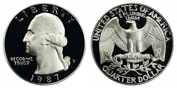 1987 S Washington Quarter Proof