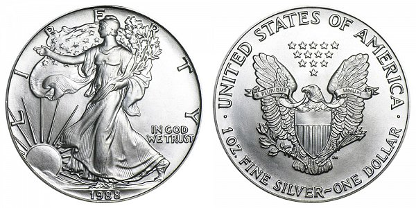 1988 American Silver Eagle