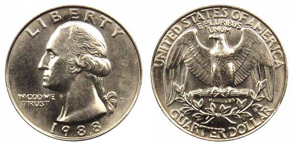 1988 D Washington Quarter