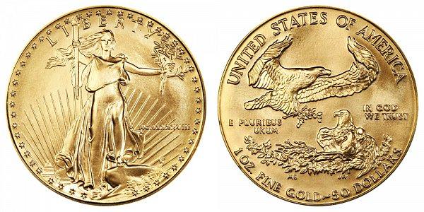 1988 One Ounce American Gold Eagle - 1 oz Gold $50  - MCMLXXXVIII