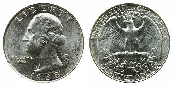 1988 P Washington Quarter
