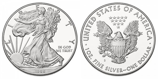 1988 S Proof American Silver Eagle