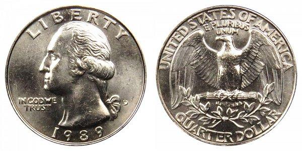 1989 D Washington Quarter