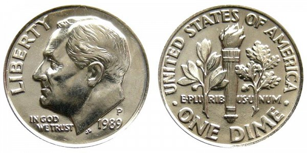 1989 P Roosevelt Dime