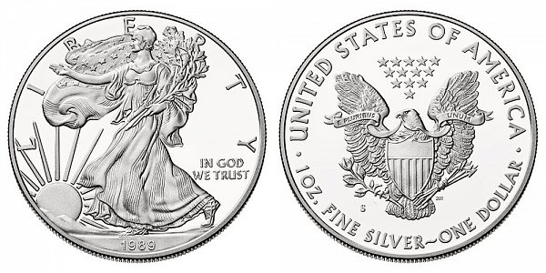 1989 S Proof American Silver Eagle