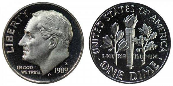 1989 S Roosevelt Dime Proof