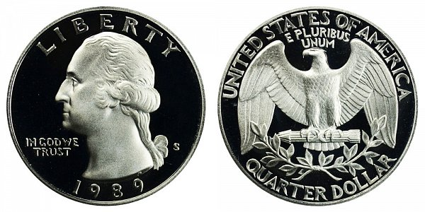 1989 S Washington Quarter Proof