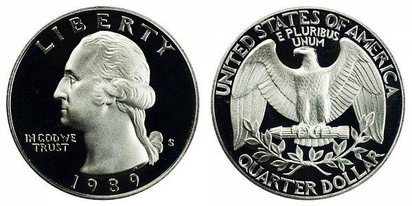 1989 S Washington Quarter Proof