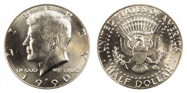 1990 D Kennedy Half Dollar