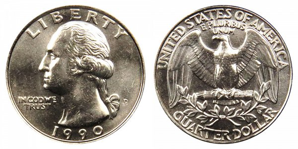 1990 D Washington Quarter