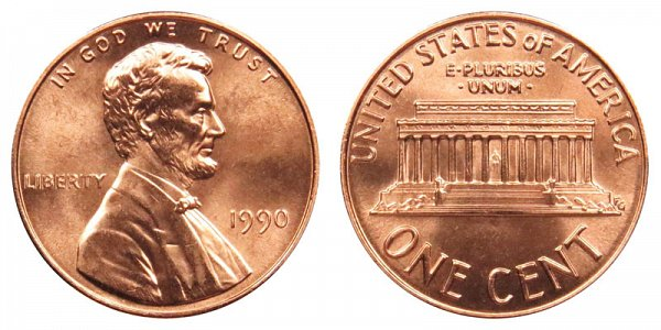 1990 Lincoln Memorial Cent Penny