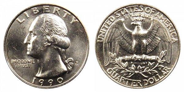 1990 P Washington Quarter