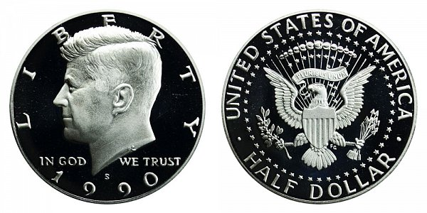 1990 S Kennedy Half Dollar Proof