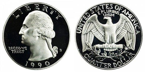 1990 S Washington Quarter Proof