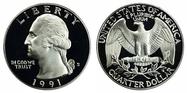 1991 S Washington Quarter Proof