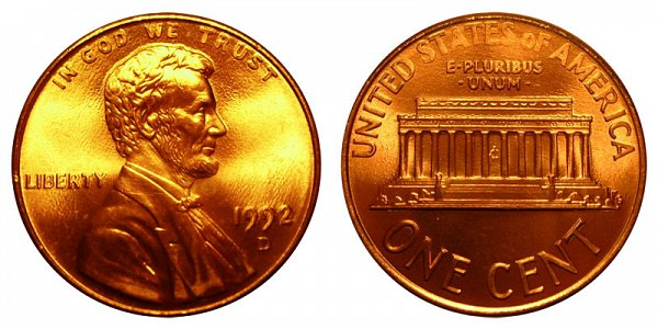 1992 D Lincoln Memorial Cent Penny