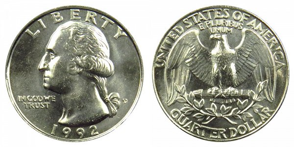 1992 D Washington Quarter