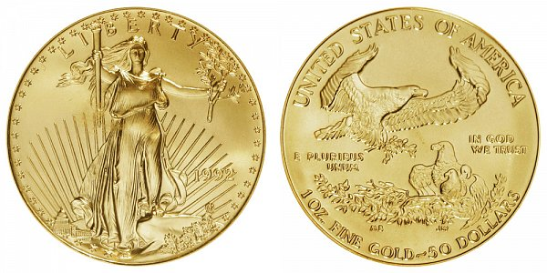 1992 One Ounce American Gold Eagle - 1 oz Gold $50