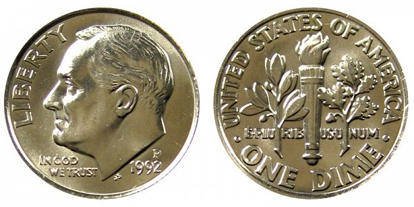 1992 P Roosevelt Dime