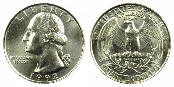 1992 P Washington Quarter