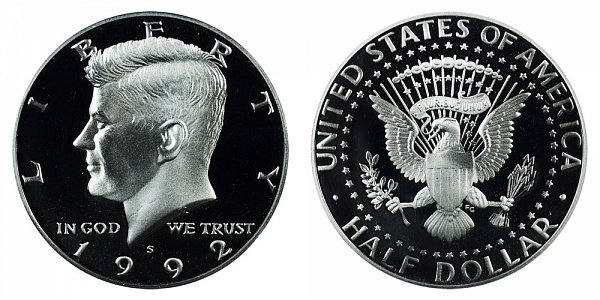 1992 S Silver Kennedy Half Dollar Proof