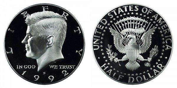 1992 S Kennedy Half Dollar Proof