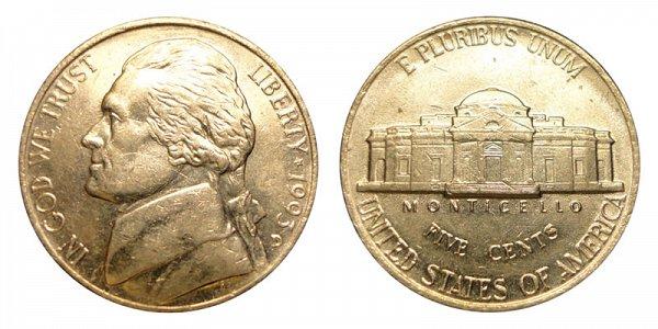 1993 D Jefferson Nickel