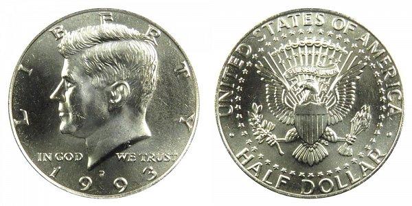 1993 D Kennedy Half Dollar