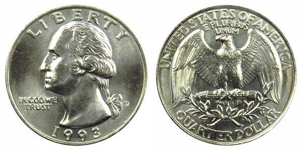 1993 D Washington Quarter