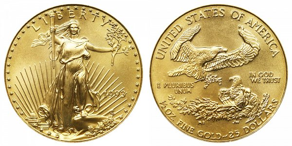 1993 Half Ounce American Gold Eagle - 1/2 oz Gold $25
