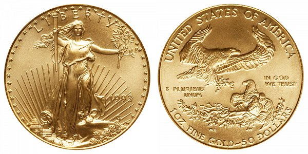 1993 One Ounce American Gold Eagle - 1 oz Gold $50