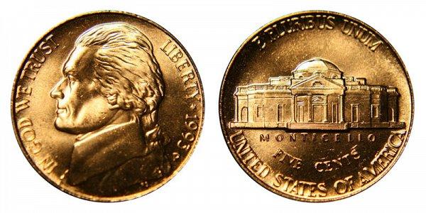 1993 P Jefferson Nickel