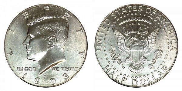 1993 P Kennedy Half Dollar