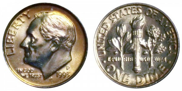 1993 P Roosevelt Dime