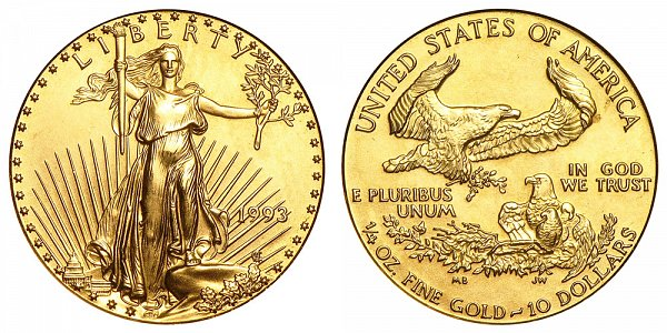 1993 Quarter Ounce American Gold Eagle - 1/4 oz Gold $10