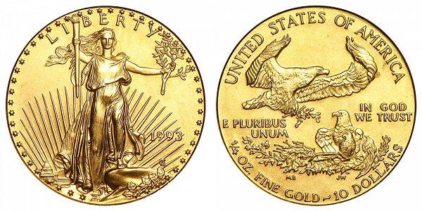 1993 Quarter Ounce American Gold Eagle - 1/4 oz Gold $10