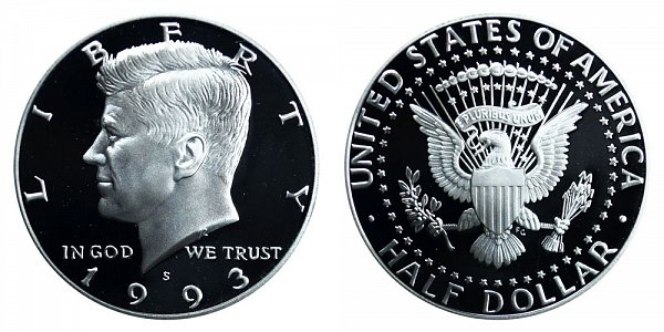 1993 S Silver Kennedy Half Dollar Proof