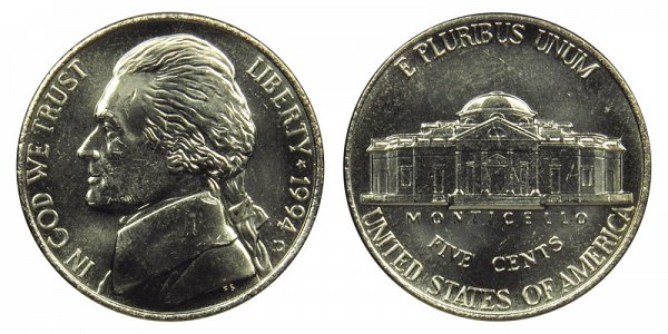 1994 D Jefferson Nickel