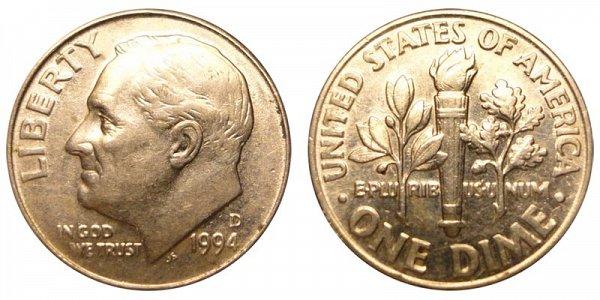 1994 D Roosevelt Dime