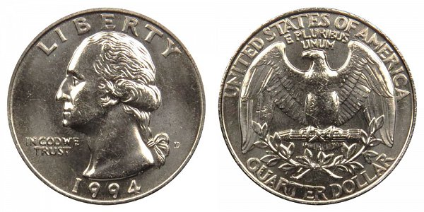 1994 D Washington Quarter