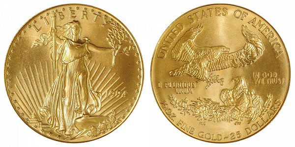 1994 Half Ounce American Gold Eagle - 1/2 oz Gold $25