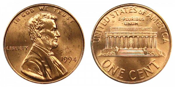 1994 Lincoln Memorial Cent Penny