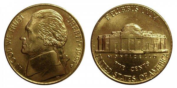 1994 P Jefferson Nickel