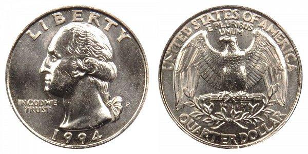 1994 P Washington Quarter