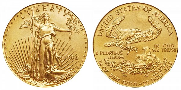 1994 Quarter Ounce American Gold Eagle - 1/4 oz Gold $10