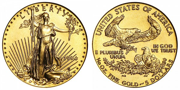 1994 Tenth Ounce American Gold Eagle - 1/10 oz Gold $5