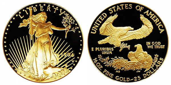 1994 W Proof Half Ounce American Gold Eagle - 1/2 oz Gold $25