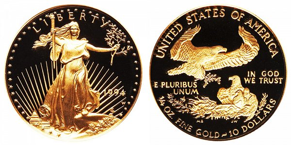 1994 W Proof Quarter Ounce American Gold Eagle - 1/4 oz Gold $10